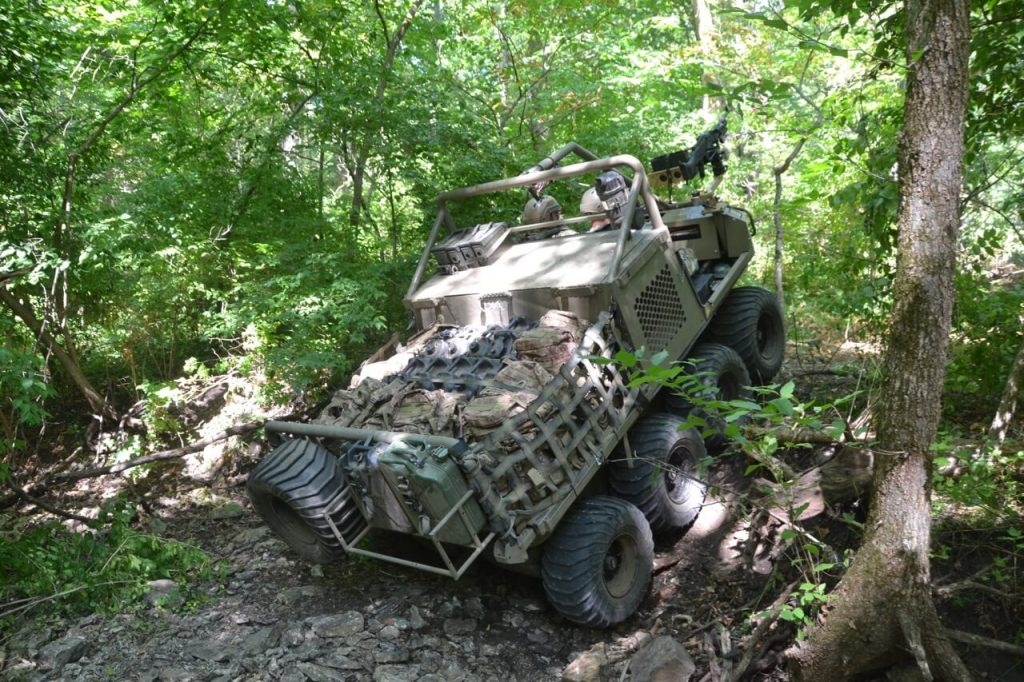 Hippo All Terrain Support Vehicle on steep terrain