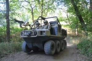 Hippo All Terrain Support Vehicle on move