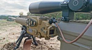 Rheinmetall Soldier Electronics Tac-Ray on sniper rifle