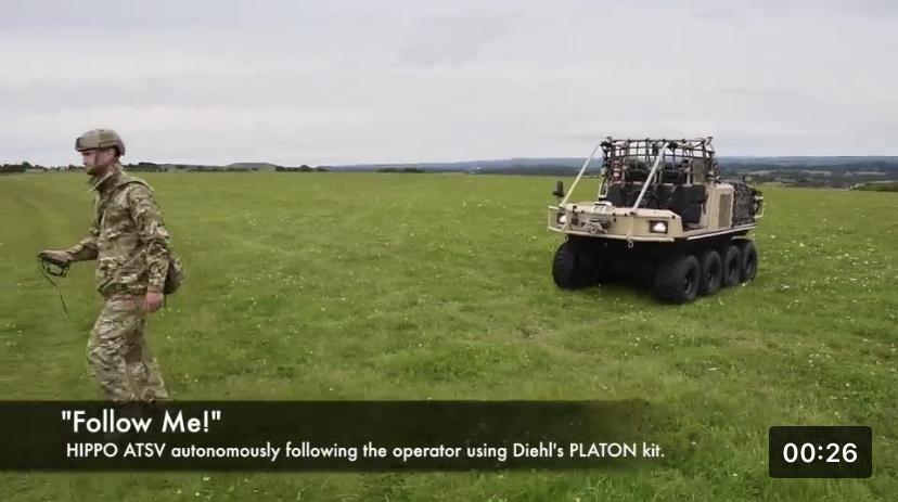Robotic Platoon Vehicle Project