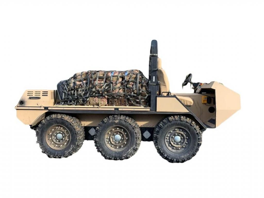 Hybrid Amphibious Wheeled Carrier with Cargo (HAWC)